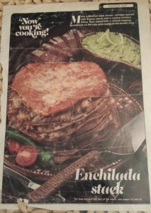 Original Enchilada Stack recipe from the 1970s (Photo Credit: Adroit Ideals)