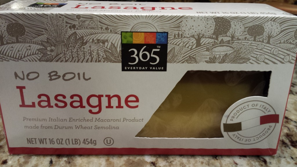 Whole Foods Market's 365 Brand No Boil Lasagne Noodles  (Photo Credit: Adroit Ideals)