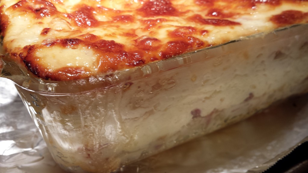 Close Up of the White Lasagna Layers  (Photo Credit: Adroit Ideals)