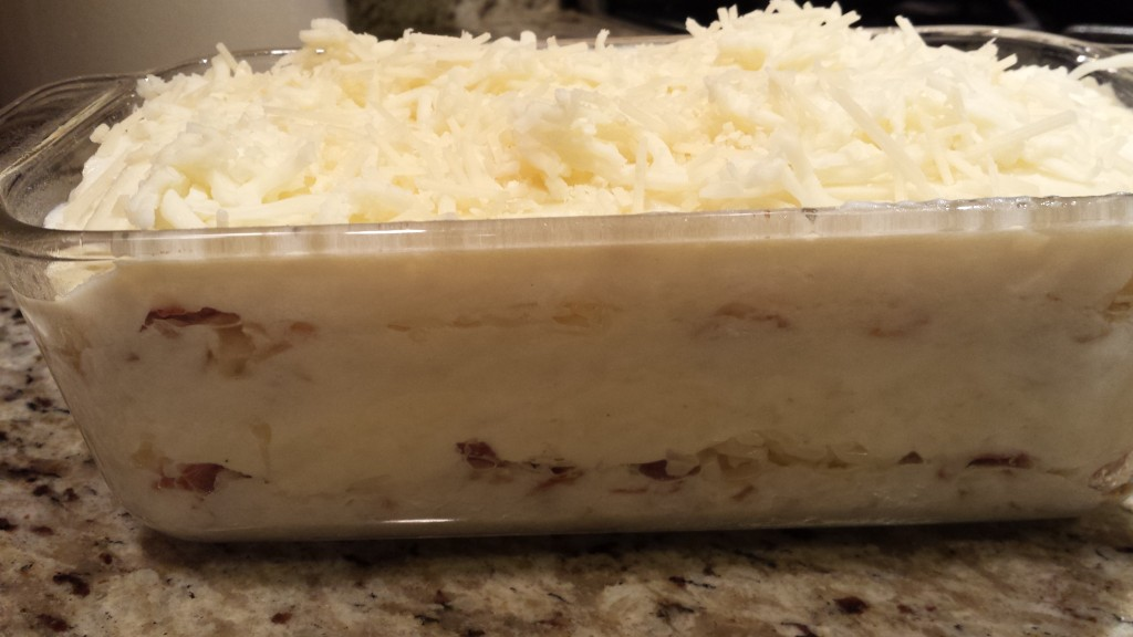 The white lasagna is ready for the oven!  (Photo Credit: Adroit Ideals)