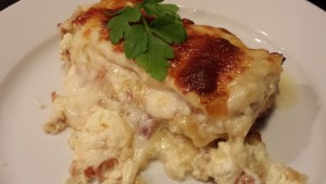 Decadent White Lasagna full of gooey goodness (Photo Credit: Adroit Ideals)