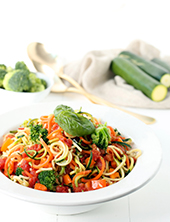 Al Fresco Zucchini Pasta Salad (photo courtesy Tuttorossotomatoes.com)