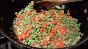 Add the peas  (Photo Credit: Adroit Ideals)