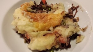 Beefy Shepherd's Pie with a nice cheesy crust on the mashed potatoes  (Photo Credit: Adroit Ideals)