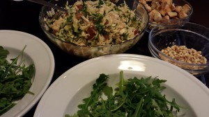 Marinated Chicken Tomato Orzo Salad ready to plate (Photo Credit: Adroit Ideals)