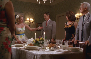 Betty Draper's Around The World Dinner Party on AMC's Mad Men TV series (Photo Credit: AMC)