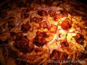 BBQ Chicken Pizza fresh from the oven! (Photo Credit: Adroit Ideals)