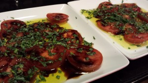 Tarragon and Tomato Salad with Balsamic Syrup and Olive Oil  (Photo Credit: Adroit Ideals)