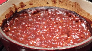 Honey Mustard Baked Beans fresh from the oven! (Photo Credit: Adroit Ideals)