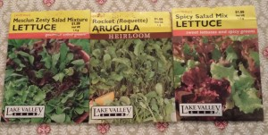 Heirloom Arugula and Fancy Lettuce Mix Seeds (Photo Credit: Adroit Ideals)
