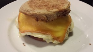 Melty Cheesy Fried Egg and Sausage Breakfast Sandwich (Photo Credit: Adroit Ideals)
