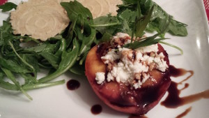 My Chilled Grilled Peach and Arugula Salad inspired by Patsy's Restaurant in Bethany, Delaware (Photo Credit: Adroit Ideals)