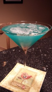 Bubbly, foamy ocean waves and a beautiful tropical ocean blue are signatures of the Blue Hawaiian Cocktail (Photo Credit: Adroit Ideals)