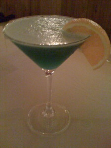 The original Blue Hawaiian Cocktail at The Parkway Restaurant in Bethany Beach, Delaware (Photo Credit: Adroit Ideals)