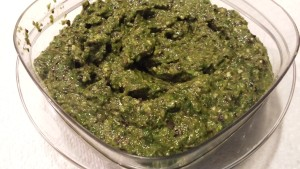 Pesto made from Spring Mix and Fresh Herbs (Photo Credit: Adroit Ideals)