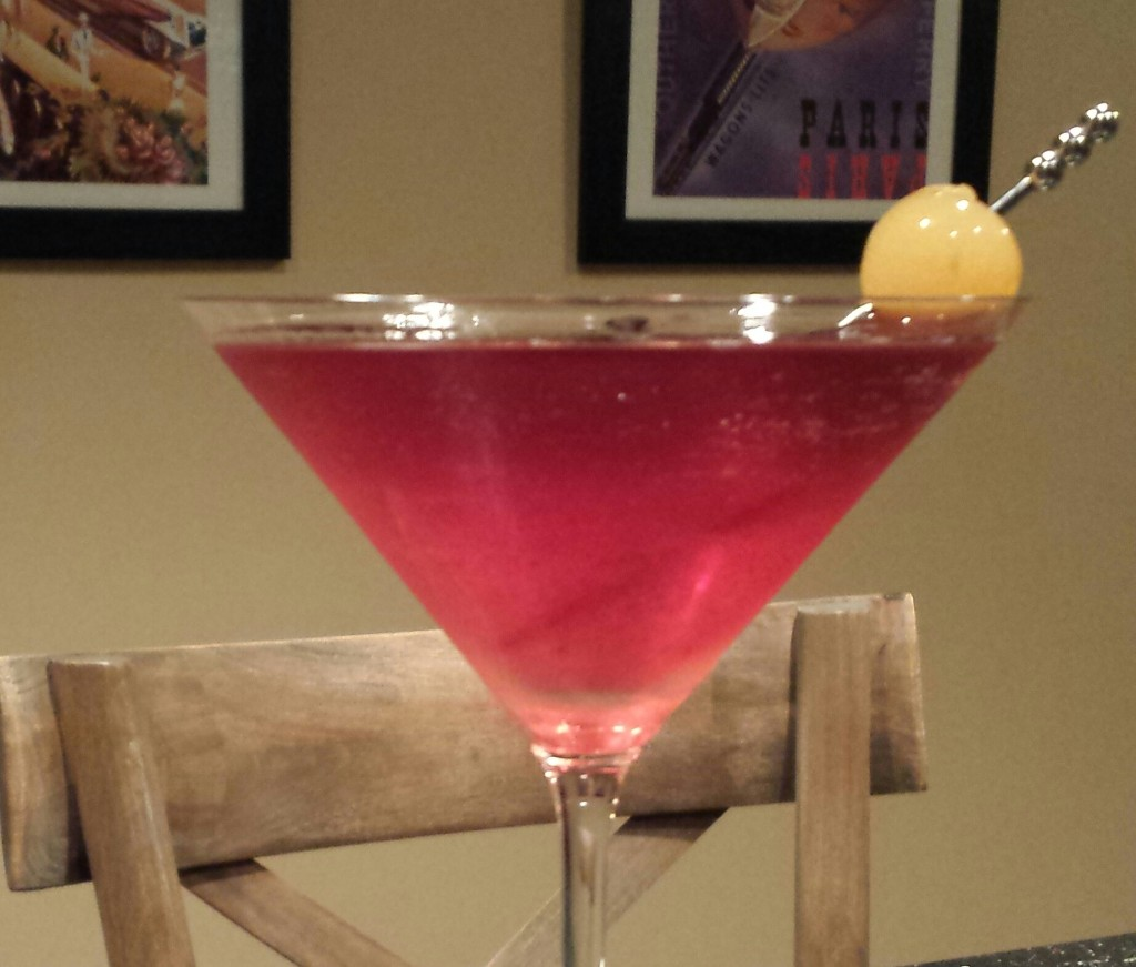 Ruby-colored Pomegranate Pear Martini (Photo Credit: Adroit Ideals)