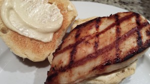 Place a Grilled Chicken Breast on the Bun (Photo Credit: Adroit Ideals)
