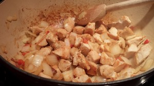 Add garlic and stir (Photo Credit: Adroit Ideals)