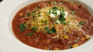 Red Chicken Chili with Beer -- Ready for Your Spoon (Photo Credit: Adroit Ideals)