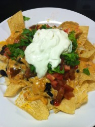 Sour Cream Topped Nachos  (Photo Credit: Adroit Ideals)