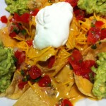 My Favorite Nachos with Chile Con Queso and Guacamole (Photo Credit: Adroit Ideals)