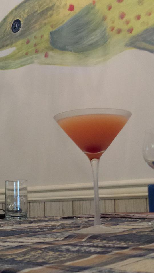 The Clifton Sunset Martini at Delaware House marking the end of a busy day and also the future end of the fish mural  (Photo Credit: Adroit Ideals)