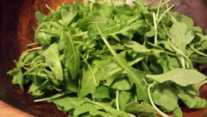 Fresh Arugula is the base of this salad  (Photo Credit: Adroit Ideals)