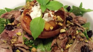Smoked Duck Salad with Grilled Peaches  (Photo Credit: Adroit Ideals)