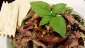 Add some crackers to the Smoked Duck Salad and serve  (Photo Credit: Adroit Ideals)