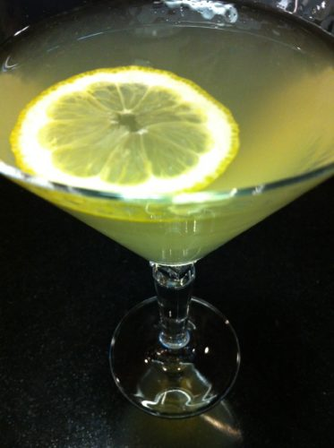 The Lemon Rosemary Martini garnished with a lemon slice (Photo Credit: Adroit Ideals)