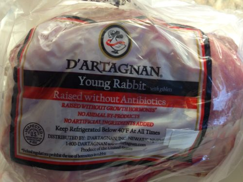 Whole Young Rabbit from D'Artagnan (Photo Credit: lalalunchbox.com)
