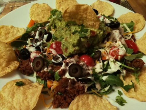 Taco Salad with Seasoned Ground Beef