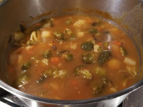Simmer soup