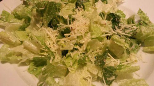 Romaine Lettuce tossed with Caesar Salad Dressing