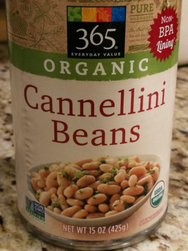 Whole Foods Market's 365 brand cannellini beans in a can