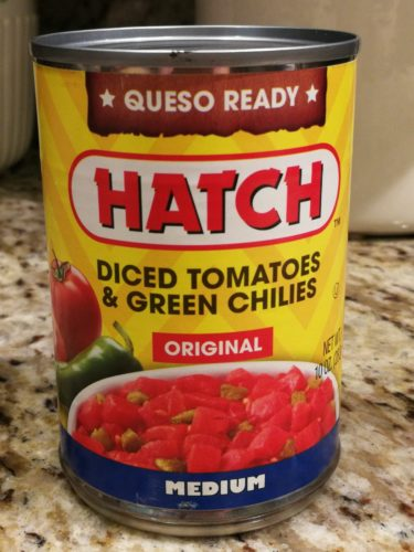 Hatch diced tomatoes and green chiles