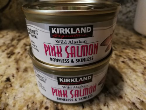 Cans of wild salmon