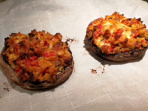 Just baked stuffed mushrooms