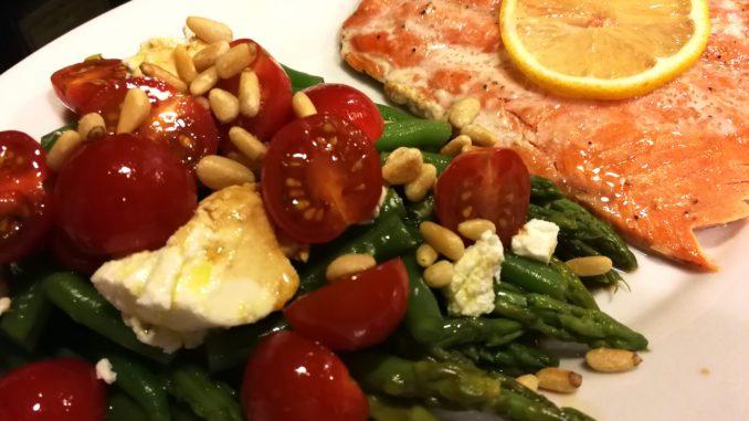 Asparagus Green Bean Tomato Salad
