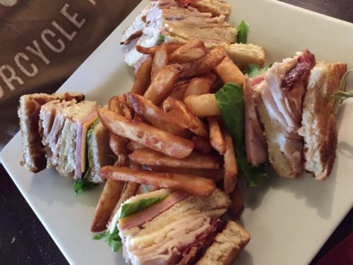 The Pub Club sandwich