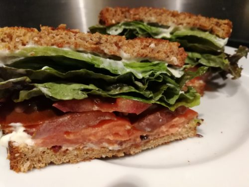 smoked salmon blt sandwich