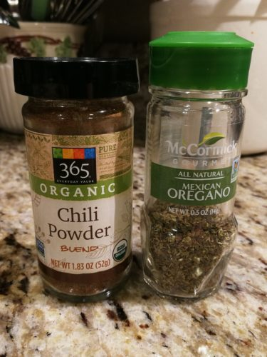 chili powder and dried Mexican oregano