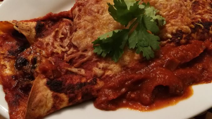 cilantro on enchilada