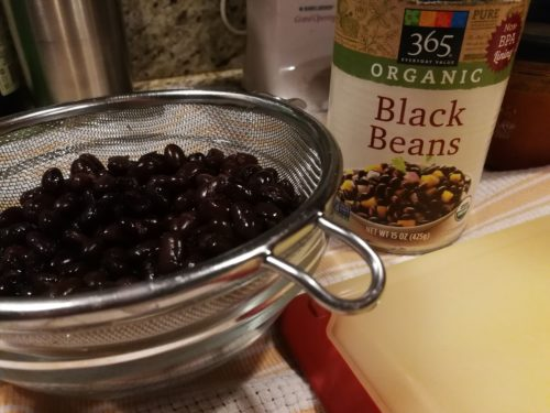canned organic black beans