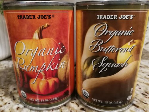 pumpkin and butternut squash purees