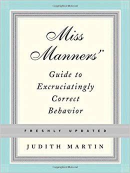 Miss Manners etiquette guide