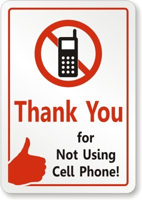 no cell phones at the table