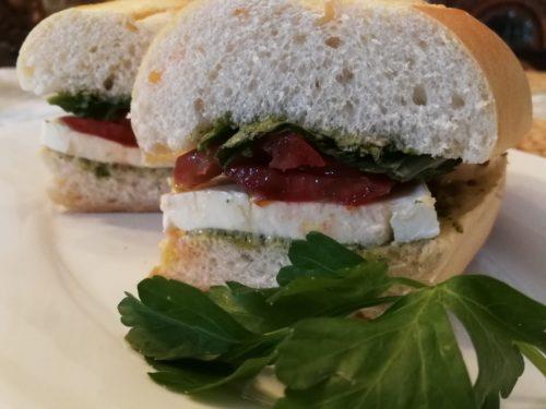 Caprese Sandwich halves