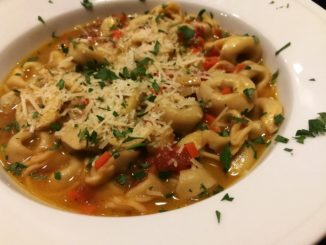 Pesto Tortellini in Easy Au Jus Sauce