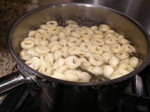 Cook the tortellini